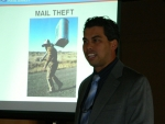 Warren Heister, Postal Inspector, talking about Mail and ID Theft for the April program